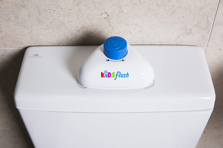 Kidsflush /— Facile /à presser et amusant /— Couleur bleue avec son de fanfare. Bouton de chasse d/'eau pour les toilettes