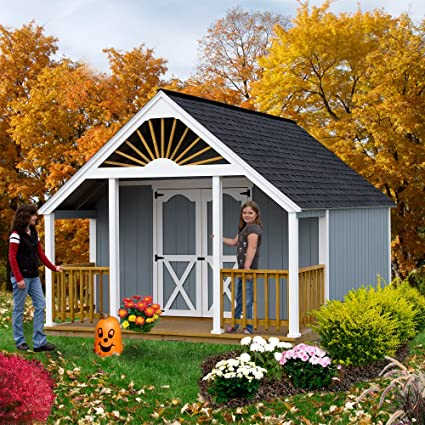 Best Barns Garden Shed 12u0027 X 16 Shed Kit Plus 4u0027 Porch