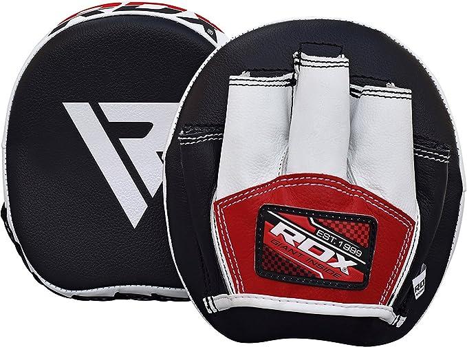 10oz Boxhandschuhe Focus Pads Handschützer Kampf Farbe Rot Schwarz Set Prime