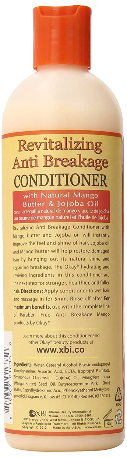 Amazon.com : Okay Mango Revitalizing Anti Breakage Conditioner, 12 Ounce : Standard Hair Conditioners : Beauty