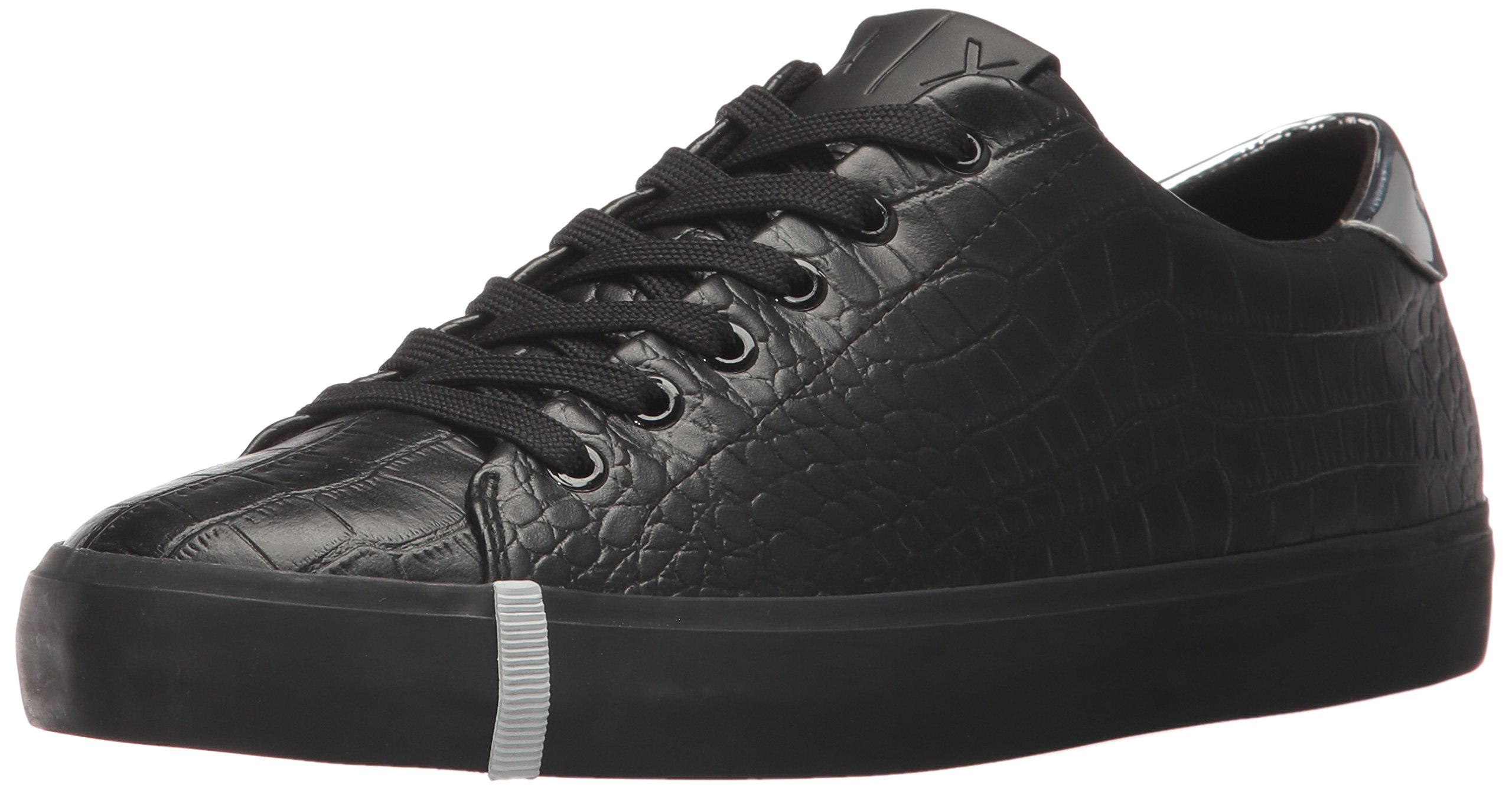 A|X Armani Exchange Women's Croc Low Top Sneaker, Nero, 5 M US