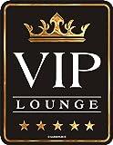 """Rahmenlos Plaque en métal """"VIP Lounge"""" (Salon VIP) 17 x 22cm"""