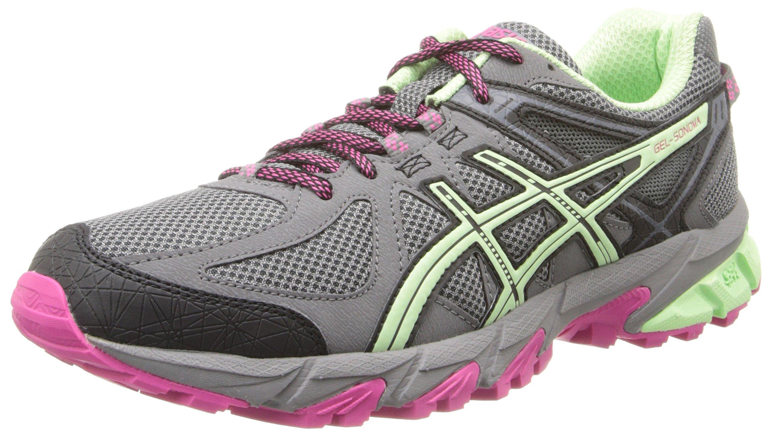 ASICS Women's Gel-Sonoma Running Shoe, Charcoal/Mint/Hot Pink, 9
