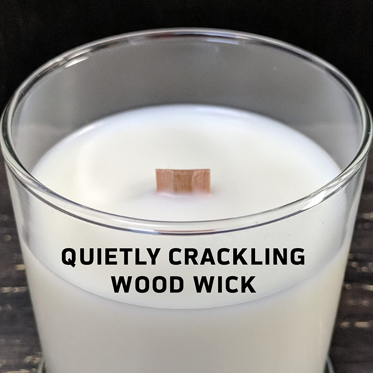 Clear 6-Ounce Worthy Promo NCAA Clemson Tigers Linen 6 oz Soy Wax Candle with Quietly Crackling Wood Wick