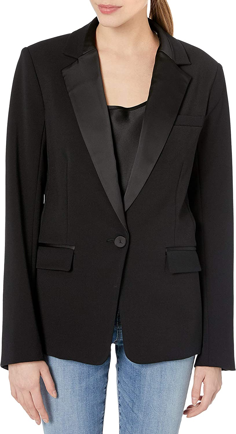 Bailey 44 Women's Chic Tailored Blazer with Satin Lapel and Pocket Detailing