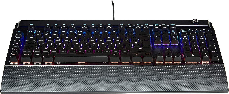 AmazonBasics - Teclado mecánico programable para juegos de ordenador | retroiluminación LED RGB, teclado español - ES (QWERTY): Amazon.es: Informática
