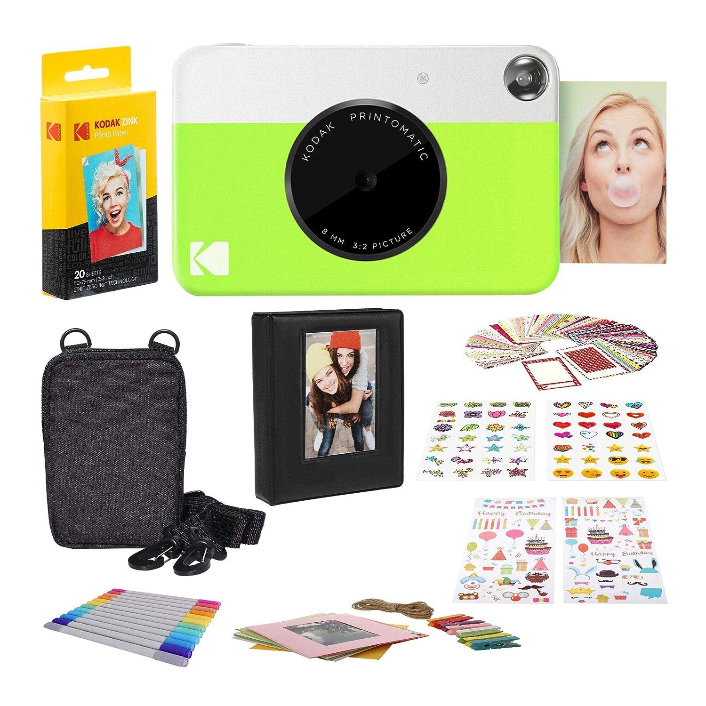 Kodak Printomatic Digital Instant Print Camera (Neon Green),