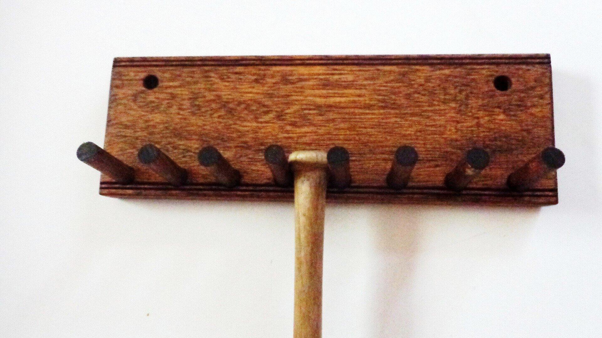 Wood Bat Rack Meant for Collectible Mini Baseball Bats Display Mahogany Finish 7 by Baseballrack