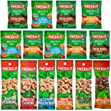 Emerald Snacks - Flavored Nut Variety Pack Cashews, Almonds & Walnuts (15 Count)