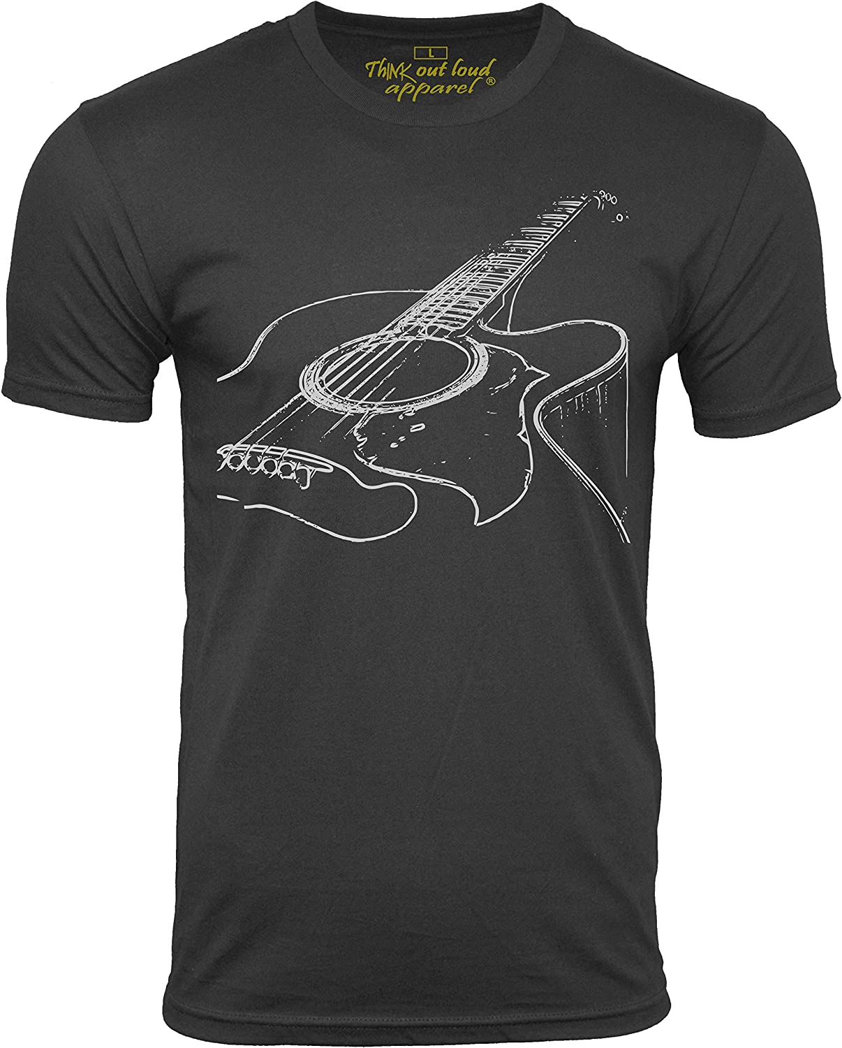 Think Out Loud Apparel Acoustic Guitar Player T Shirt Cool Musician Tee Music T Shirt Artistic Tshirt