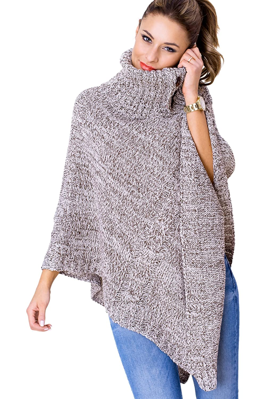 Ladies Warm Comfy Tunic Blouse Long Sleeve Warm Jumper Hoody Cowl Neck  FZ104