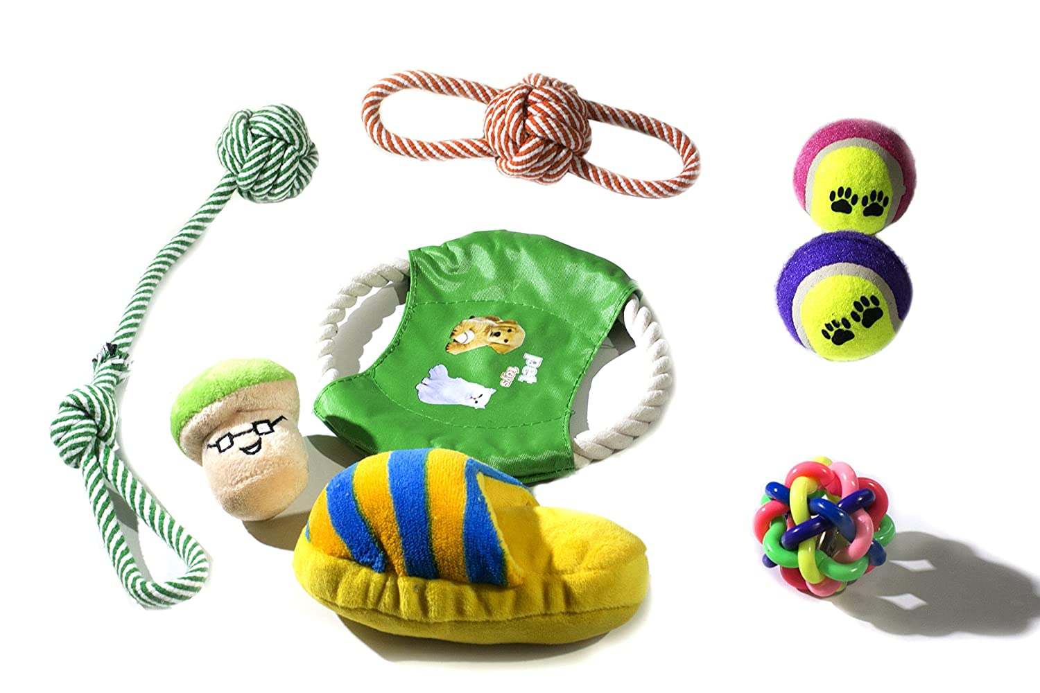 Qualinsis Dog Rope Sets, Dog Tug of War Rope Toys, Dog Chewy Toy Gift Set good