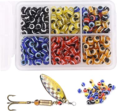 500 6MM ROUND FLUORESCENT CHR FISHING BULK BEADS TACKLE RIG HOOK BEAD FISH RIGS