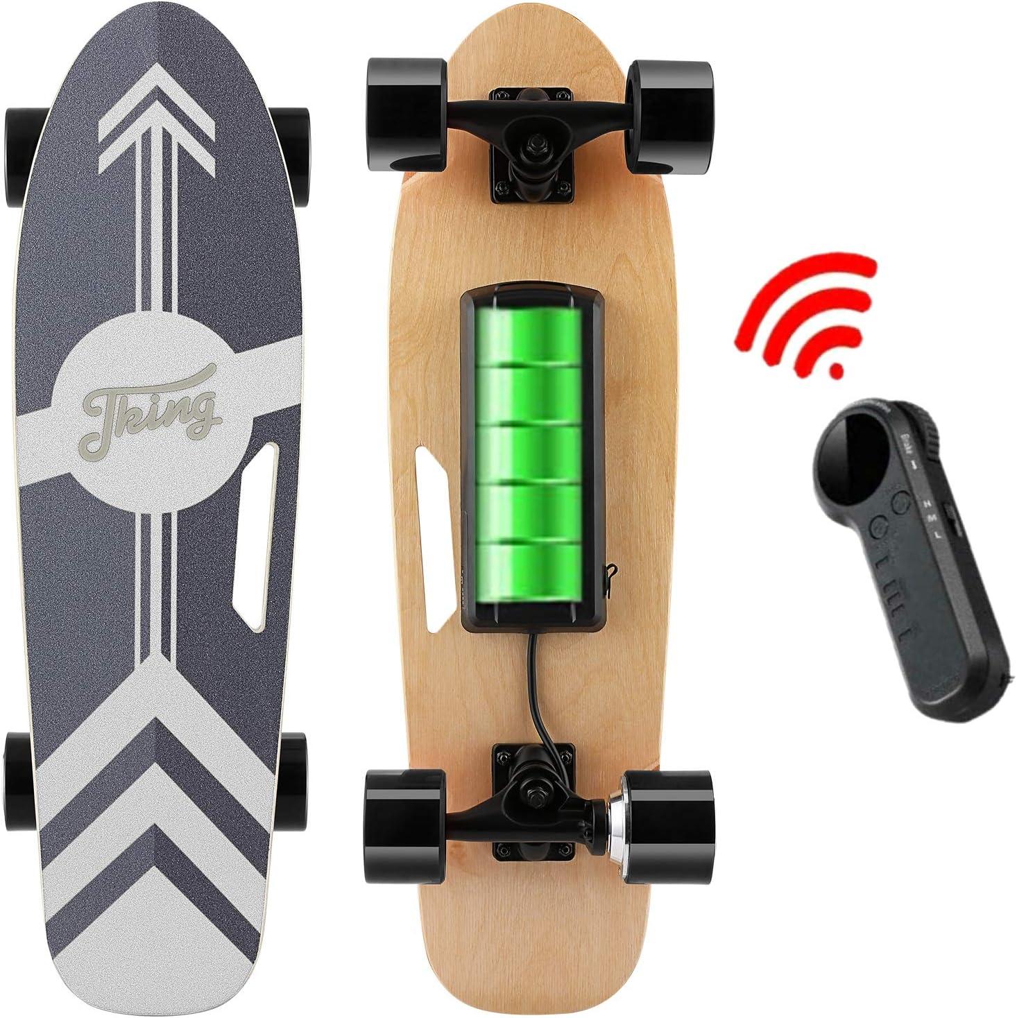 Moteur Singal 350W Nesaila Skateboard /électrique 70 cm Longboard en /érable 7 Couches avec t/él/écommande sans Fil Skateboard pour Les Adolescents et Les Adultes,Vitesse Vaximale 20 km//h