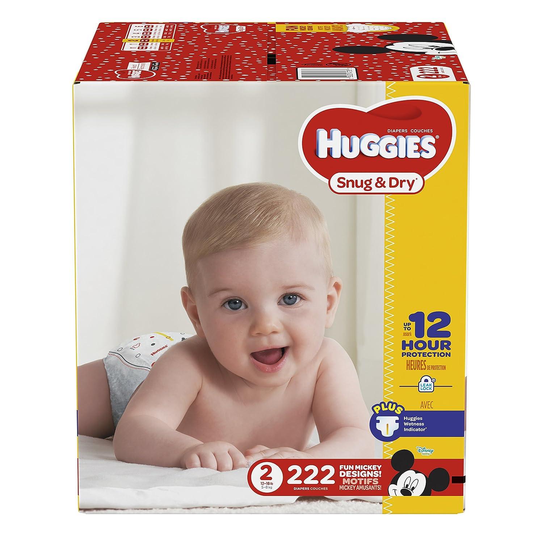 Huggies Snug Dry Diapers Size 2 222 Count Amazon Ca Health