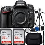 Nikon D610 DSLR Camera Body Bundle with Carrying Case and Accessory Kit (10 Items)