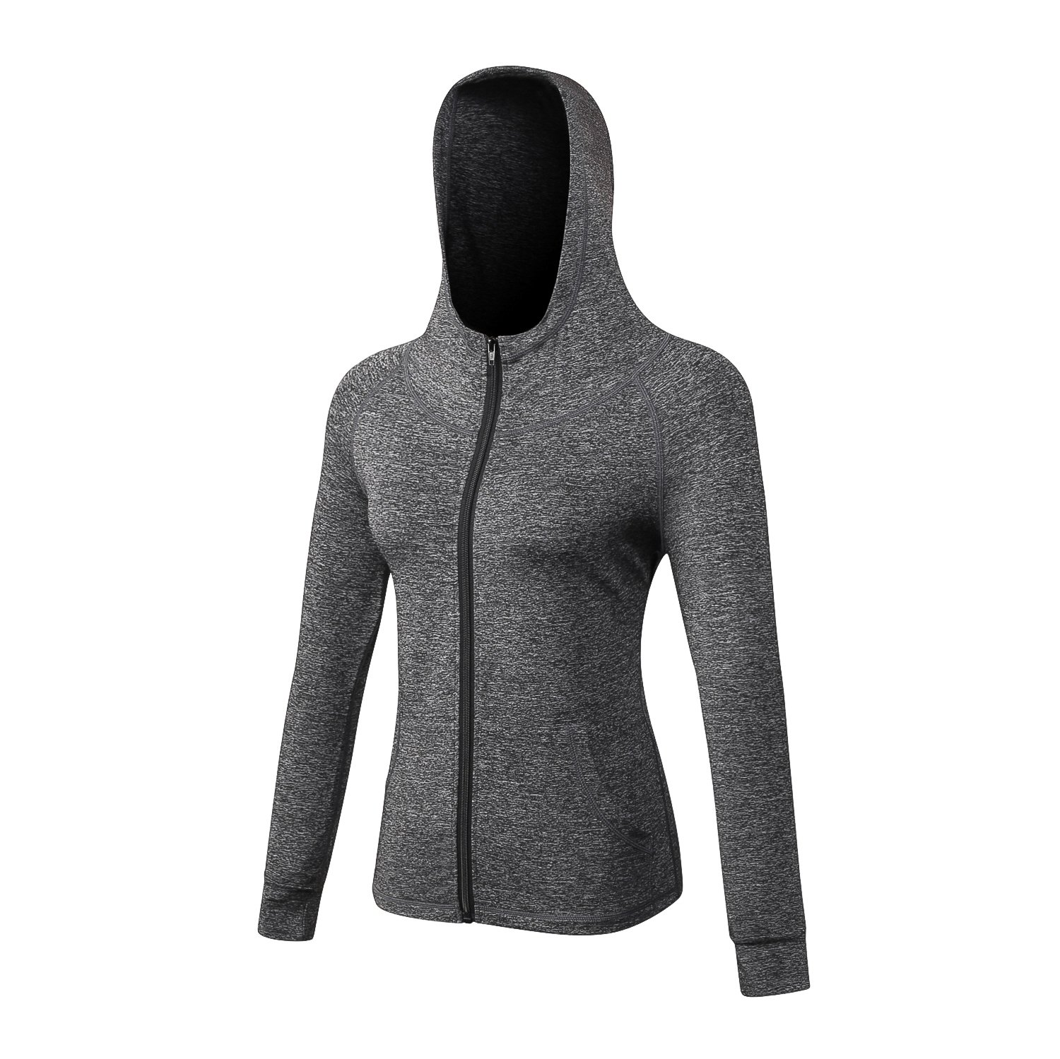 Women's Sports Active Jacket with Front Pockets - Hoodie Style camgo