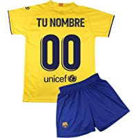 Champion's City Kit - Personalizable - Camiseta y Pantalón Infantil Segunda Equipación - FC Barcelona - Réplica…