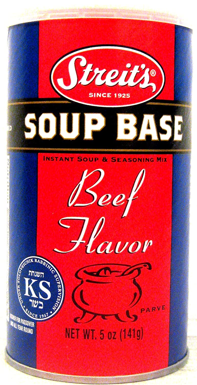 Streit's Soup Base Beef Flavor, Instant Soup and Seasoning Mix, Kosher Certified, 5 Oz (3-Pack)