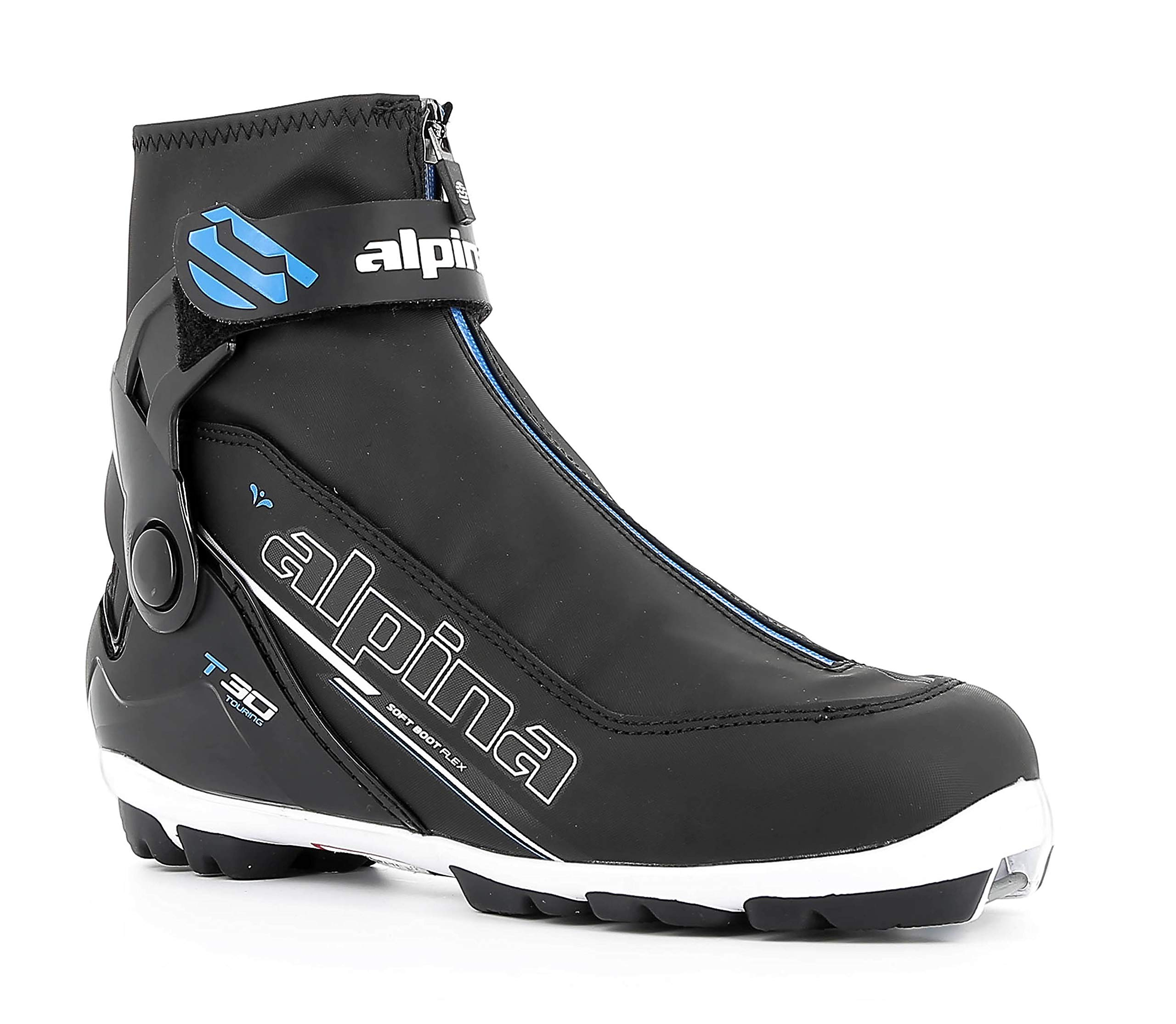 Alpina Sports T30 Eve Cross Country Touring Ski Boots, Black/White/Blue, Size 35