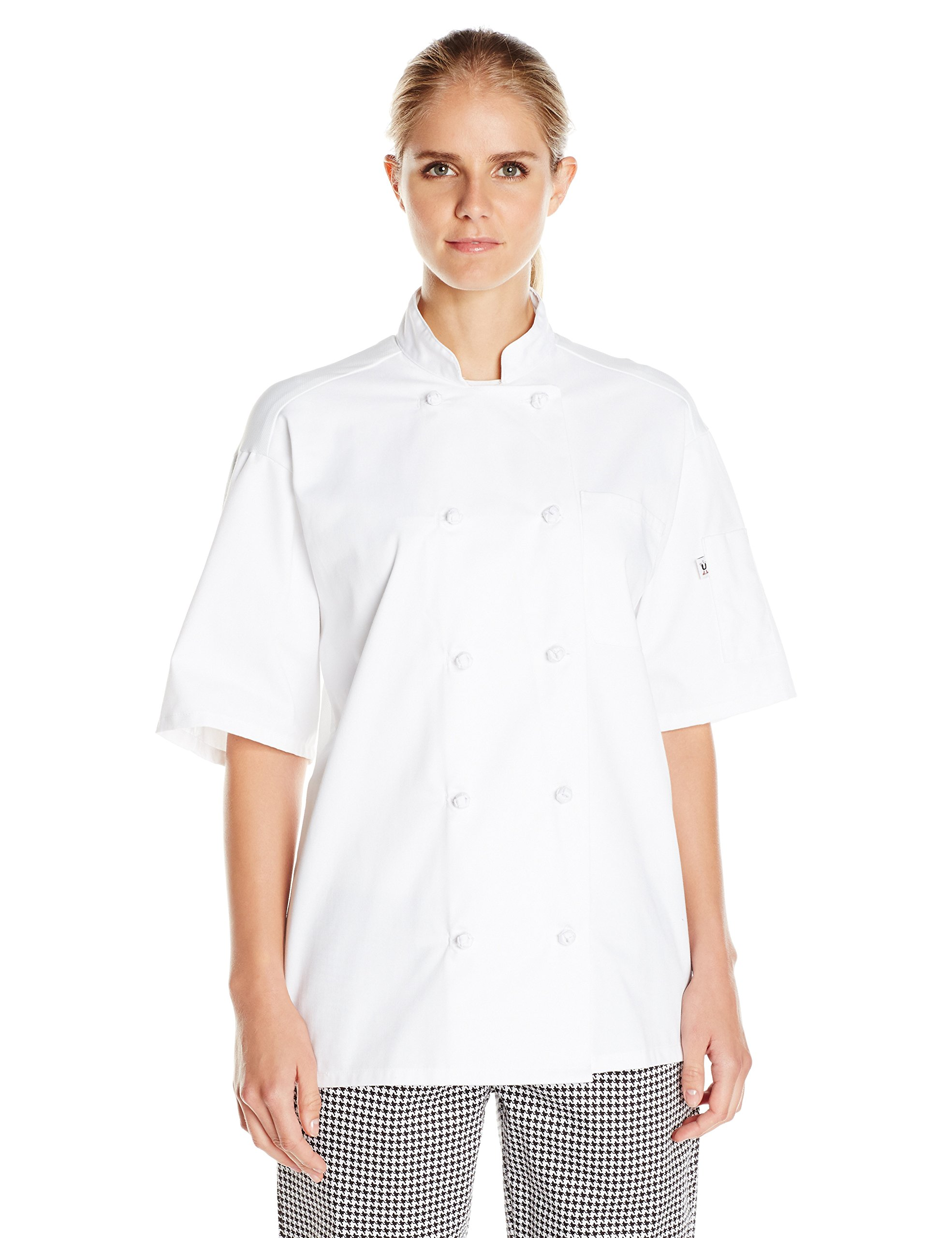 Uncommon Threads Unisex Antigua Chef Coat Ss Withmesh, White, X-Small by Uncommon Threads