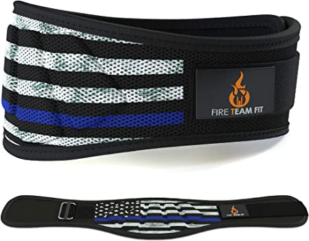 Fire Team Fit Weight Lifting Belt for Men and Women, 6 Inch, Bodybuilding & Fitness Back Support for Cross Training Workout, Squats, Lunges