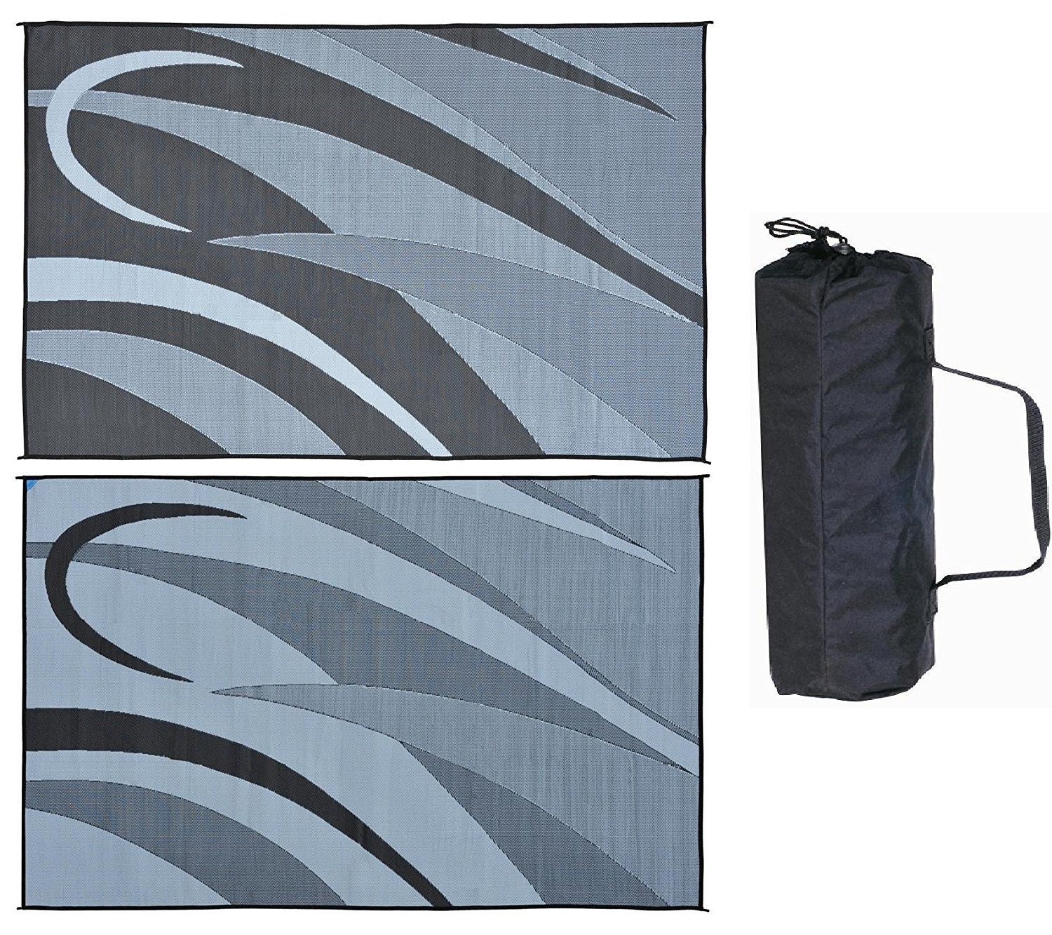 Black Silver 8' x 12' Ming's Mark GC1 Black Silver 8' x 20' Graphic Mat