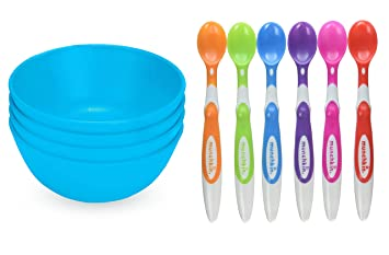 Baby Feeding Green Eats Baby Utensil And Snack Bowls
