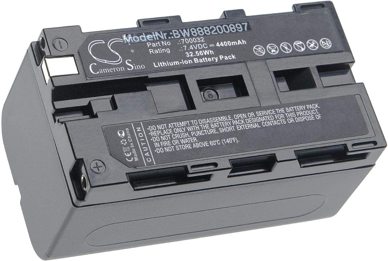 misuratore vhbw batteria compatibile con TSI Dusttrak II 8532 fotometro 4400mAh, 7.4V, Li-Ion
