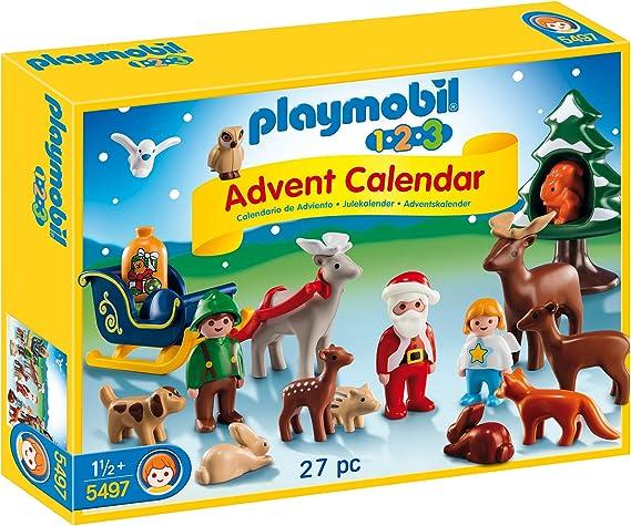 Playmobil Calendario de Adviento - Pack Navidad en el Bosque (5497): Amazon.es: Juguetes y juegos