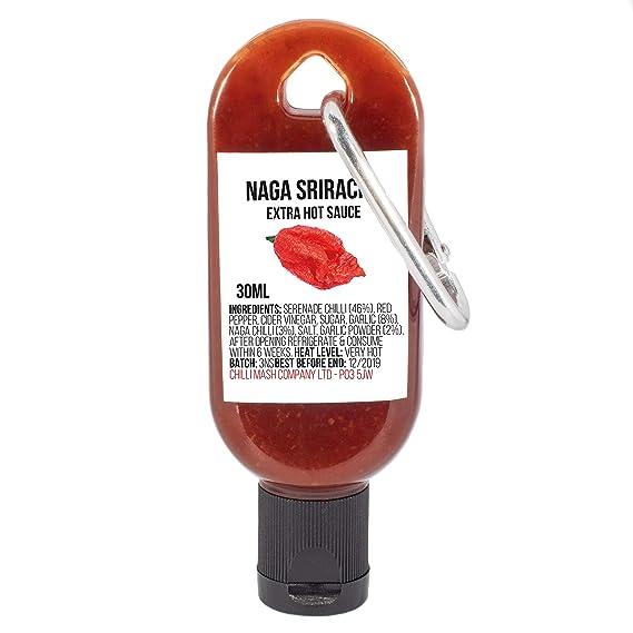 Mini Naga Sriracha llavero de Salsa picante Chile (envío completo) - Botella reutilizable a