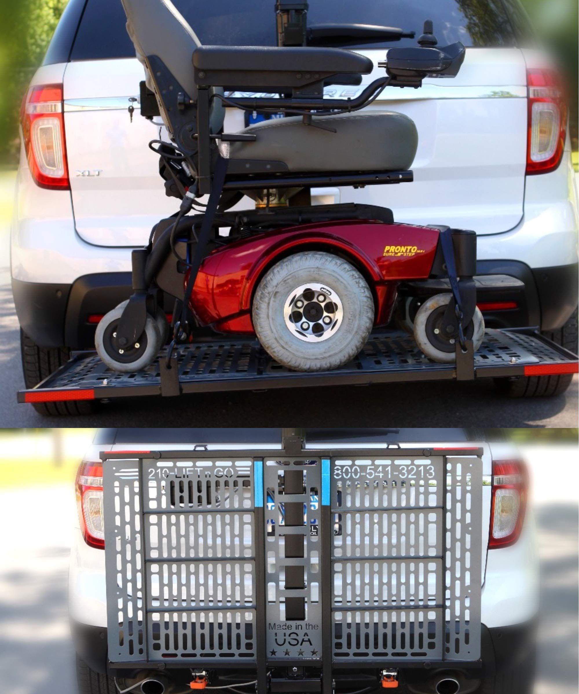 Lift-N-Go Power Electric Scooter or Powerchair Auto Lift by Wheelchair Carrier 210 Model by WheelChair Carrier