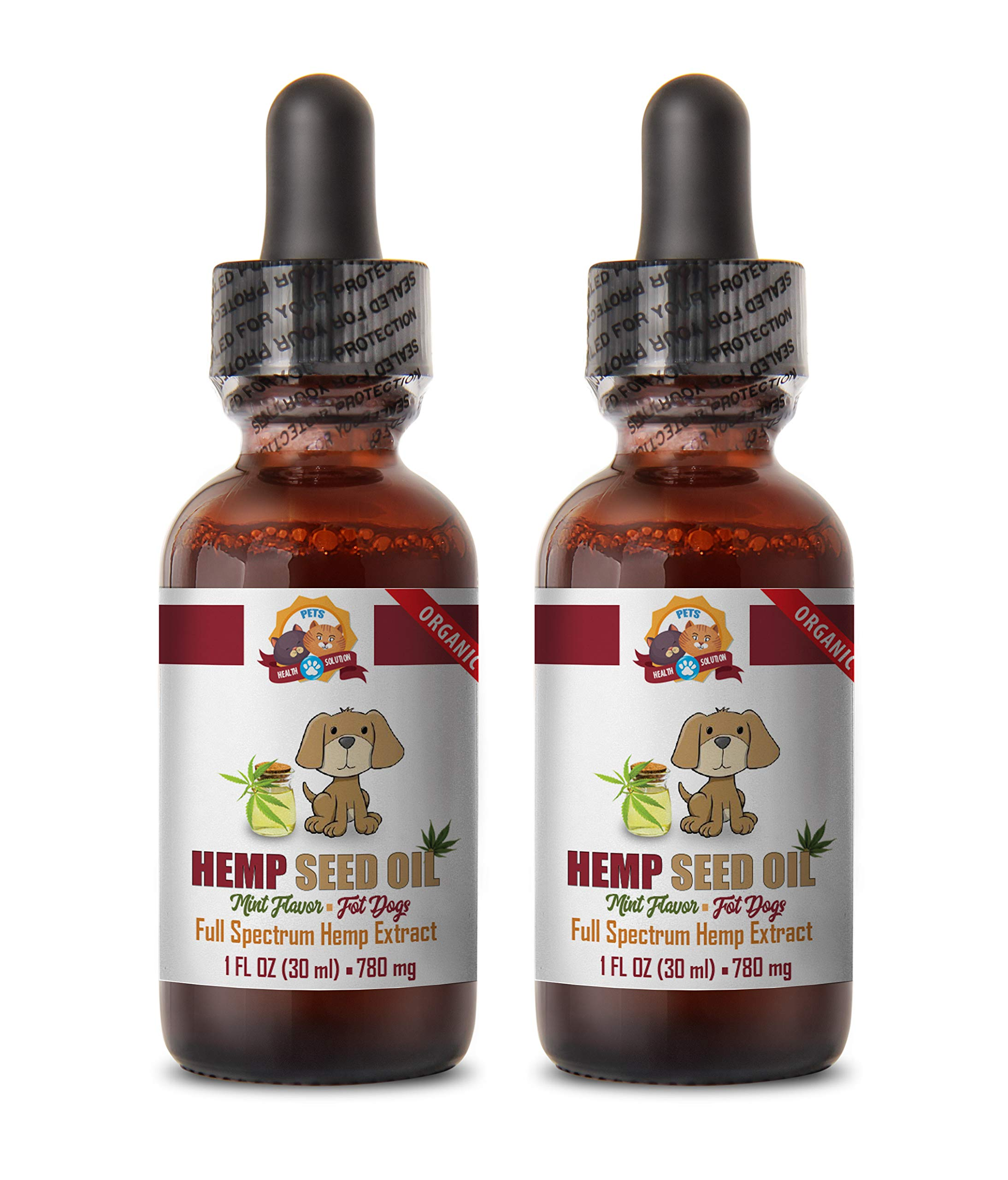 Dog Immune Health - Dog Hemp Seed Oil Extract - Liquid Drops - Omega Fatty ACIDS - Natural Healthy Benefits - Dog Hemp Supplement - 2 Bottles (60 ML) by PETS HEALTH SOLUTION