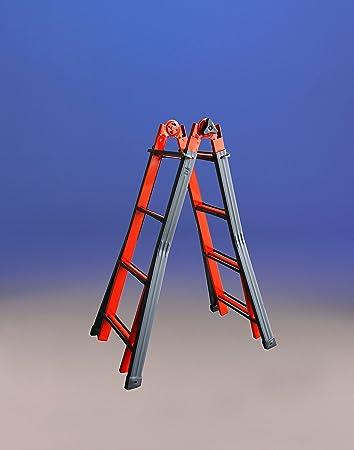 Svelt 6452400029 Escalera Telescópica Multiposición Acero 16 (4X4) 4 Peldaños, Multicolor: Amazon.es: Bricolaje y herramientas