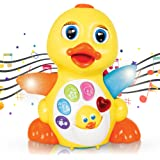 CifToys Musical Duck Toy Walking Flapping Dancing Duck Toys for 3 2 1 Year Old Gifts, Toddler Toys- Dancing, Singing…