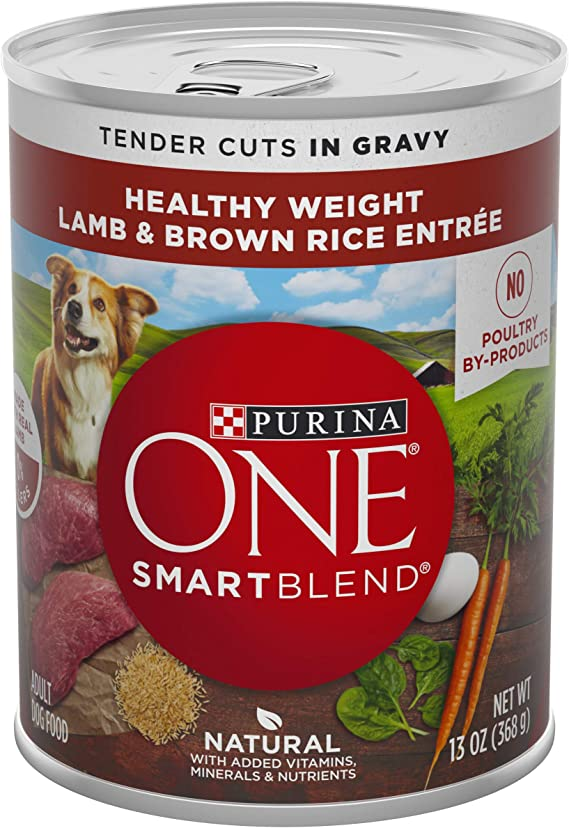 Purina One Smart Blend Healthy Weight Adult Wet Dog Food - Best Wet Food for Weight Loss