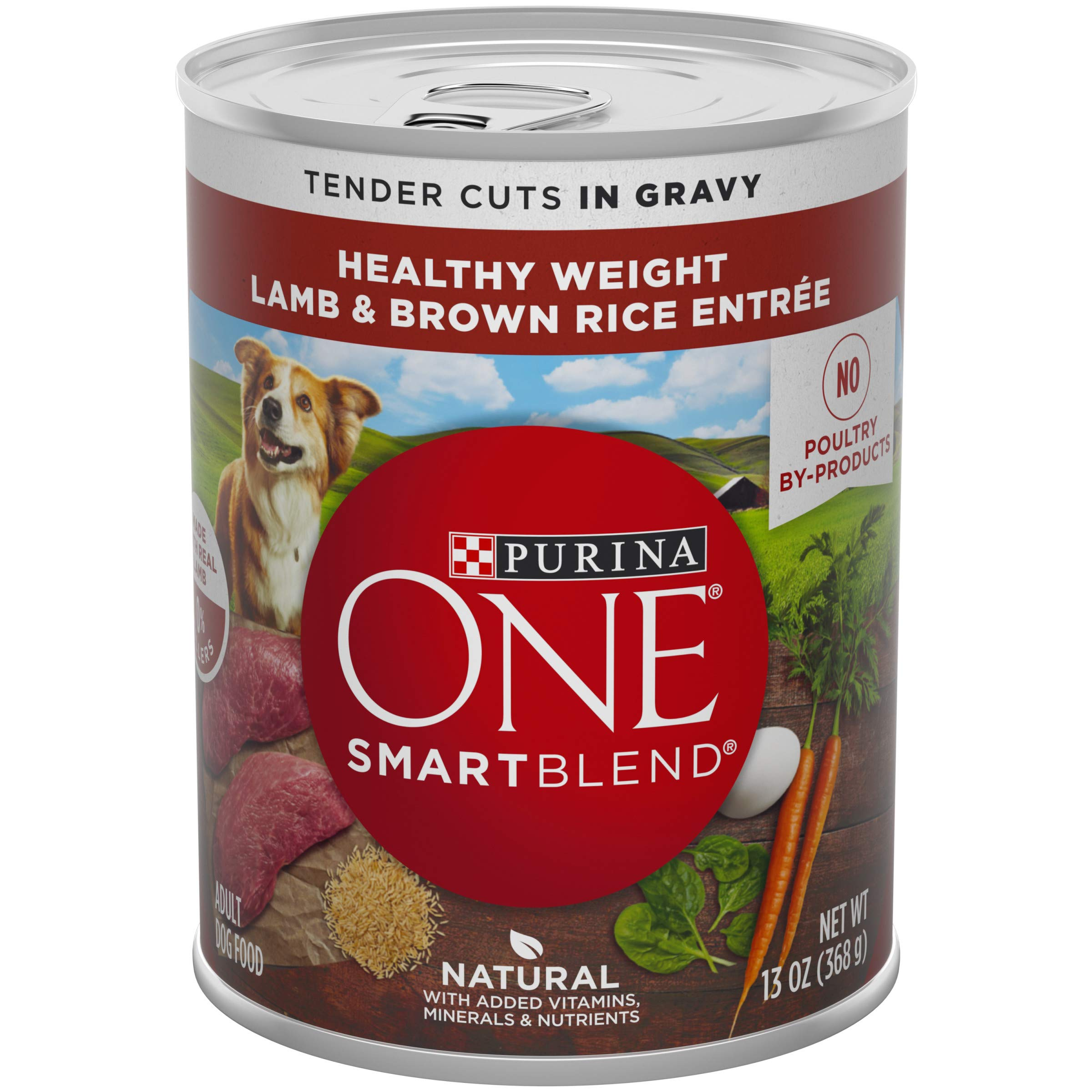 Purina ONE Weight Management, Natural Wet Dog Food, SmartBlend Healthy Weight Tender Cuts Lamb & Brown Rice - (12) 13 oz. Cans by Purina ONE