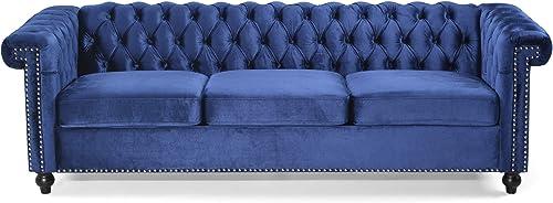 Laura Tufted Chesterfield Velvet 3 Seater Sofa - a good cheap living room sofa