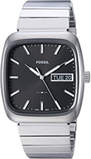 Fossil Mens FS5331 Rutherford Three-Hand Day-Date Stainless Steel Watch