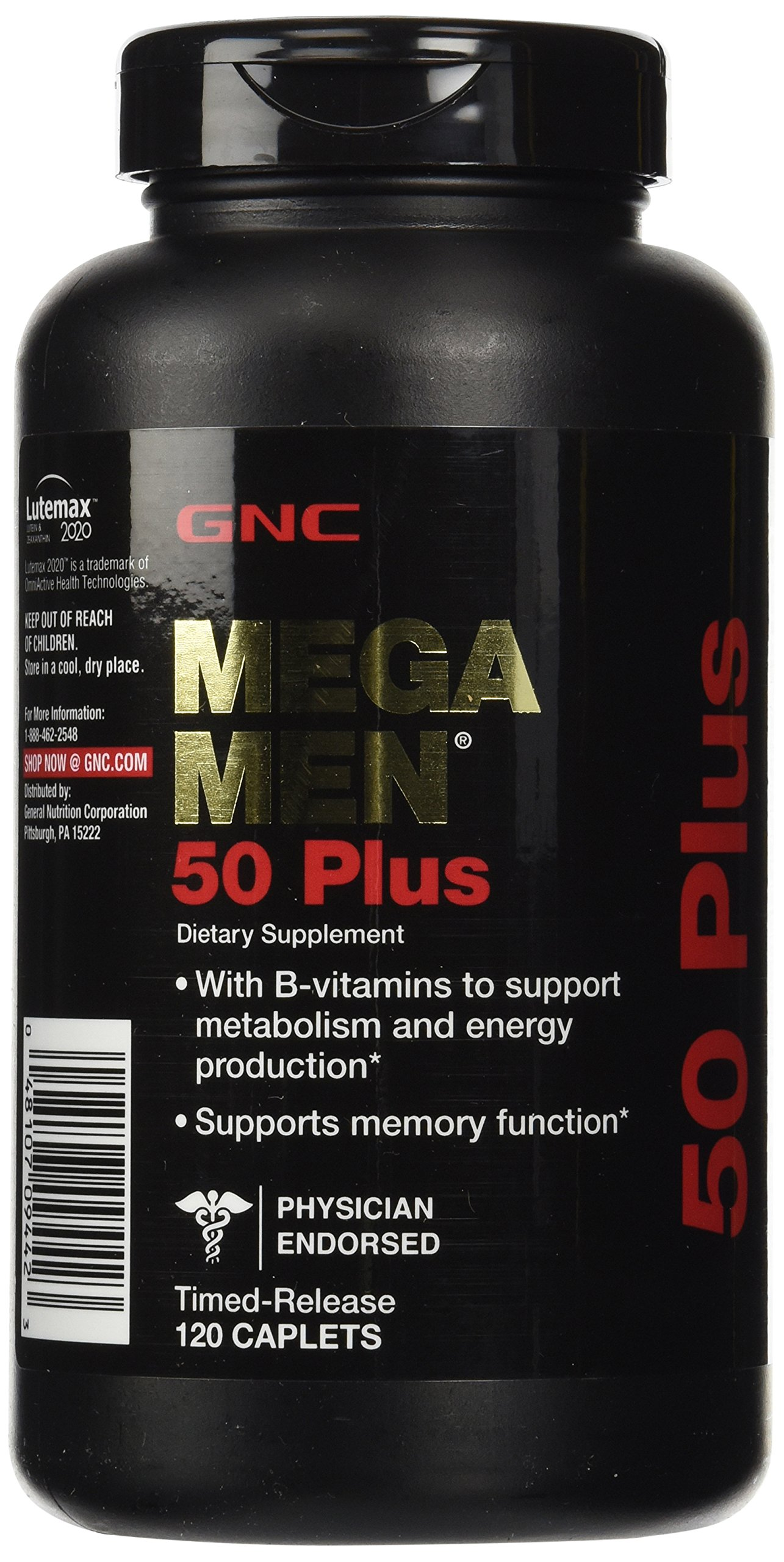 GNC Mega Men 50 Plus, 120 Caplets