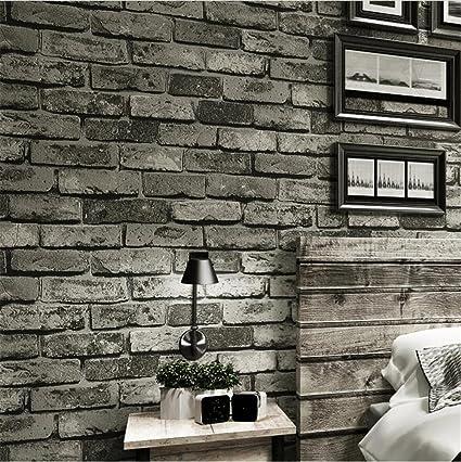 H&M Fondo de Pantalla Papel pintado Imitación ladrillo no tejida Textura Papel pintado Decoración Bar Habitación