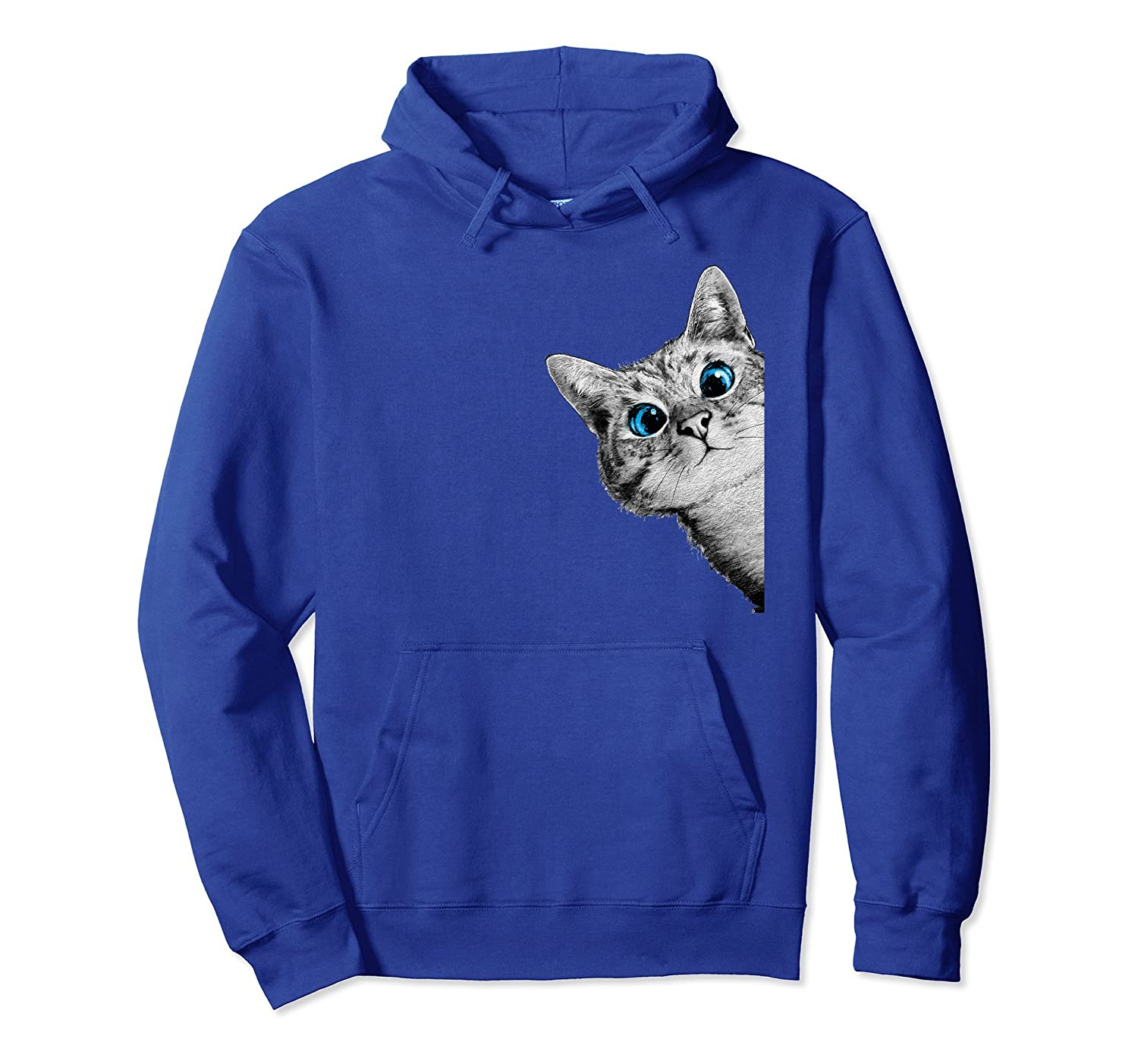 Cat Cute Face Hooded Sweatshirt-AZP