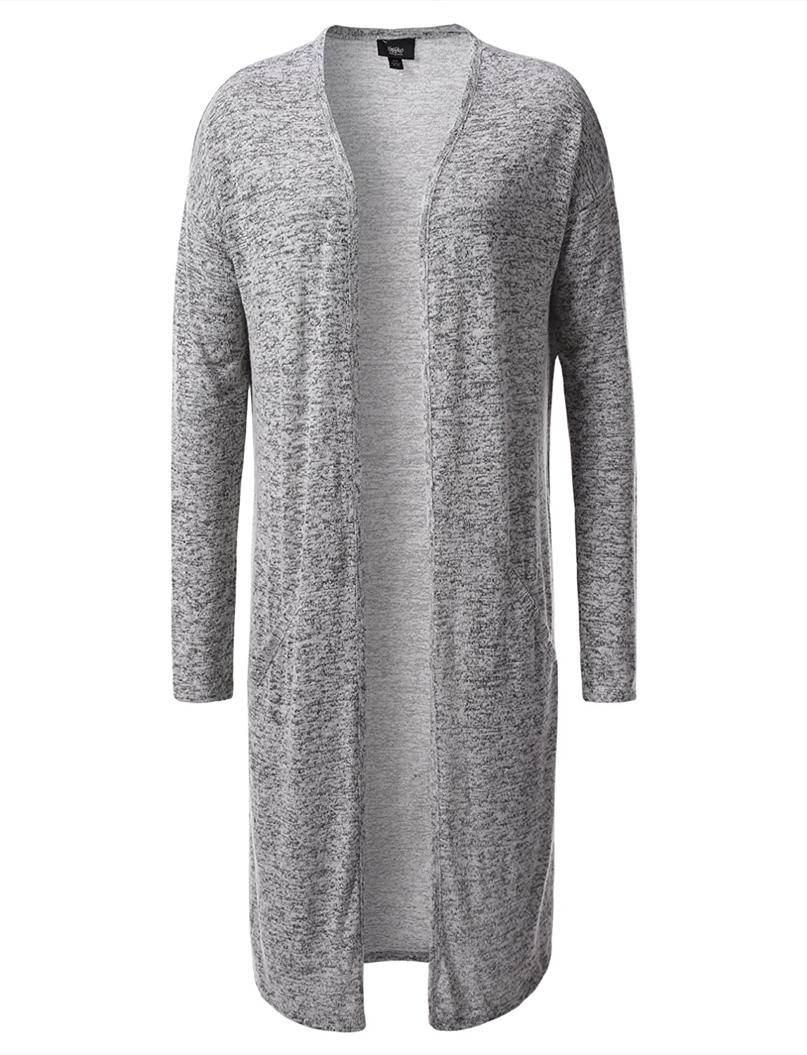 Mossimo Women's Knit Duster Long Open Cardigan (Small, Black/White ...