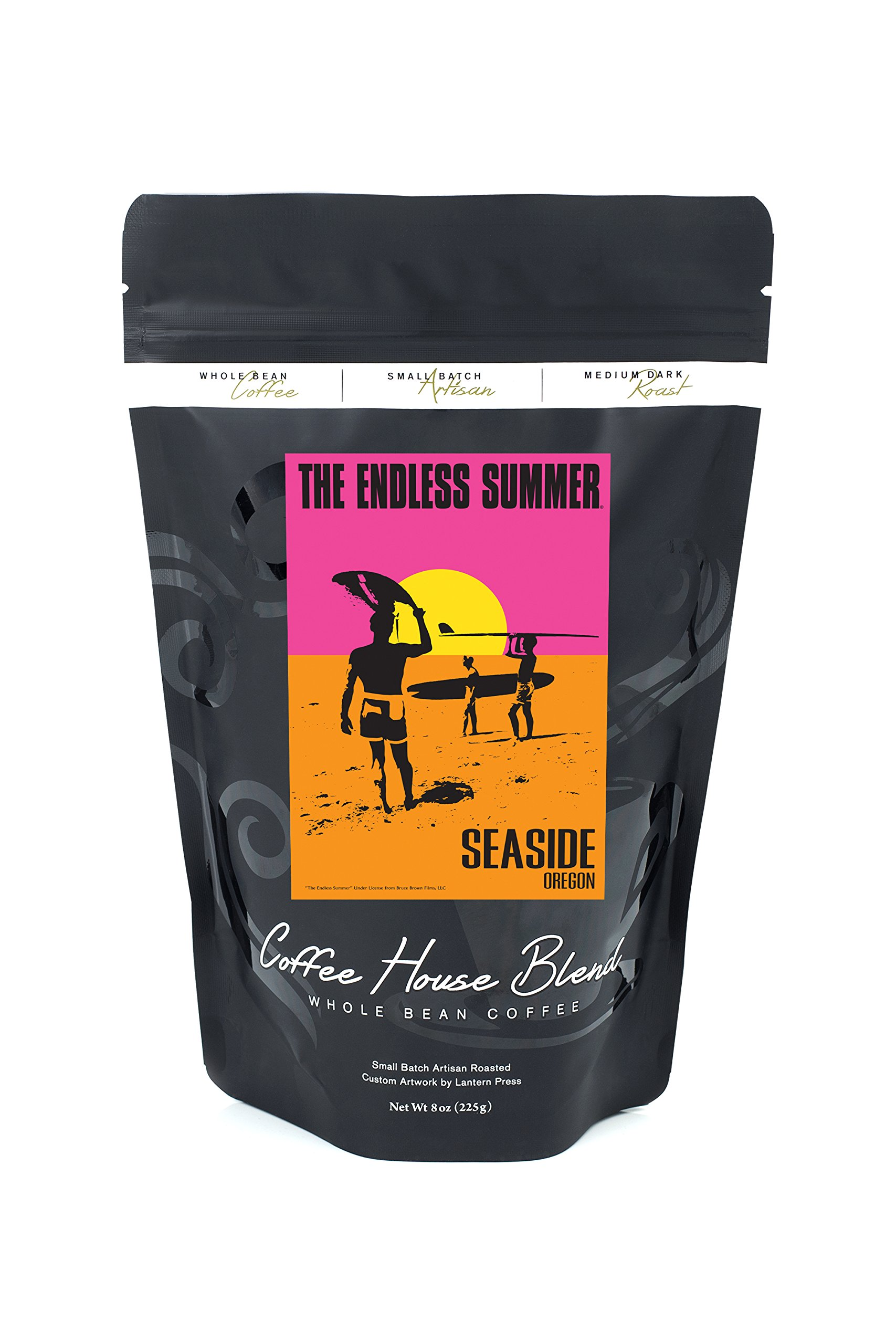Seaside, Oregon - The Endless Summer - Original Movie Poster (8oz Whole Bean Small Batch Artisan Coffee - Bold & Strong Medium Dark Roast w/ Artwork)