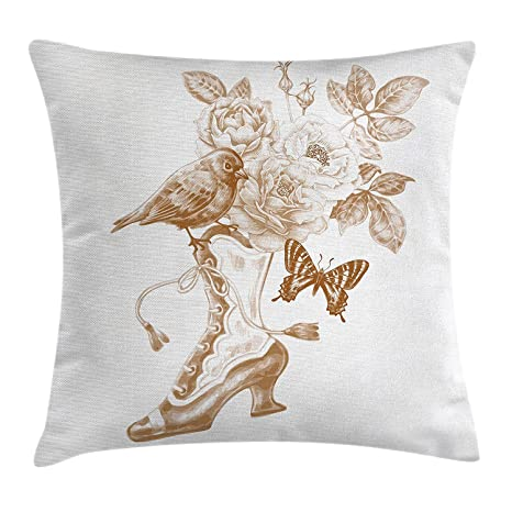 VRTIIY Victorian Throw Pillow Cushion Cover, Nostalgic Boots ...