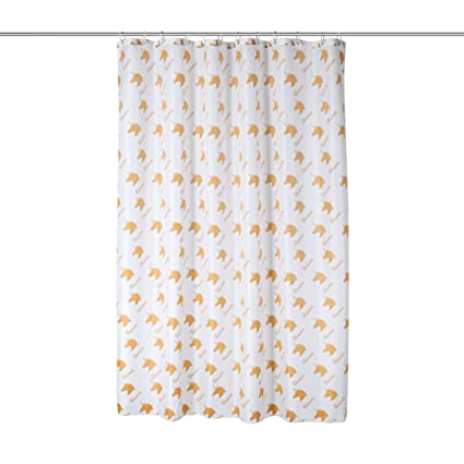 Unicornio cortina de ducha color Blanco + Dorado Unicorn de Print – Bañera Cortina de 100
