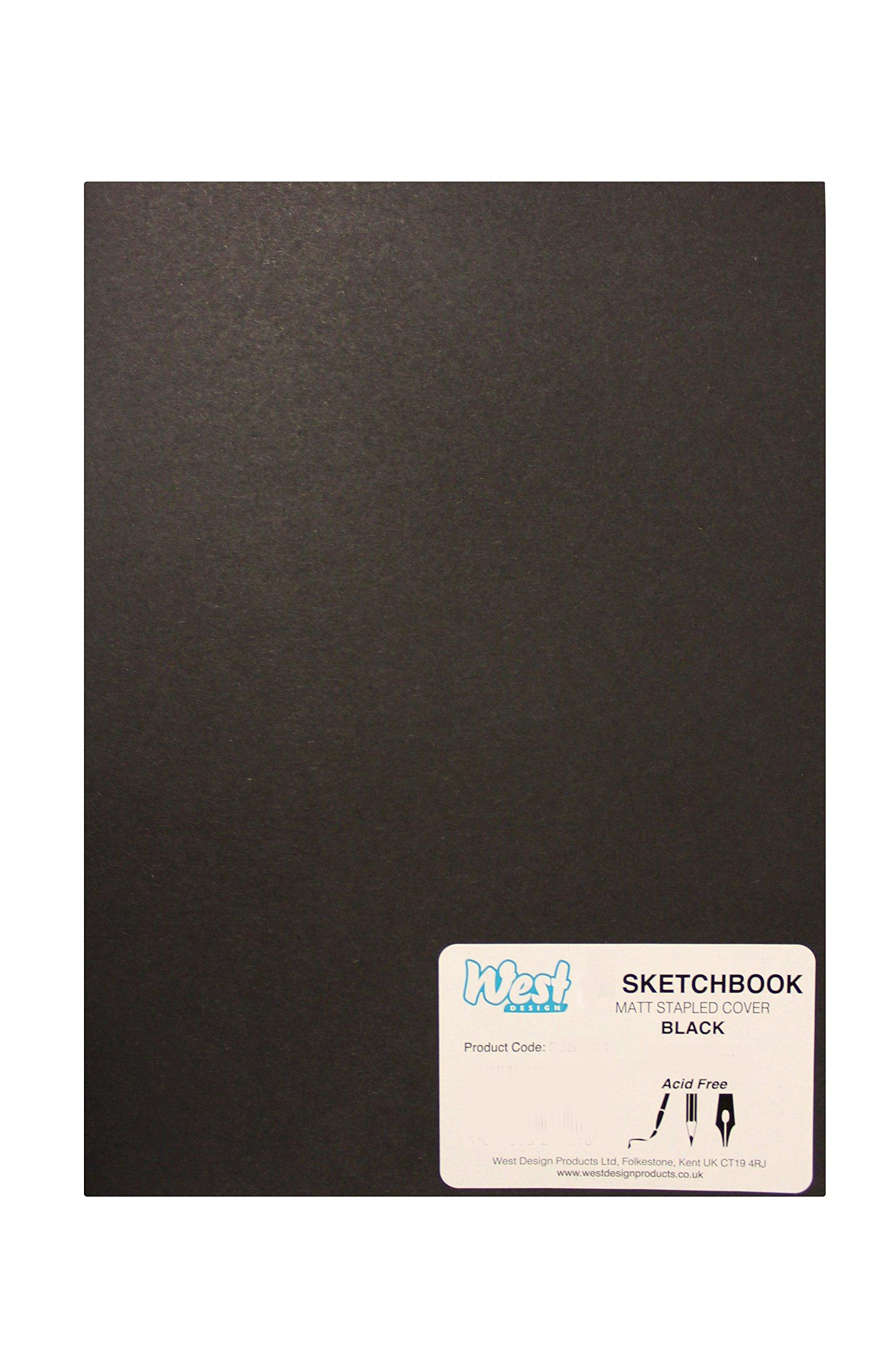 RS261155 A3 Sketchbook MATT Black 140g