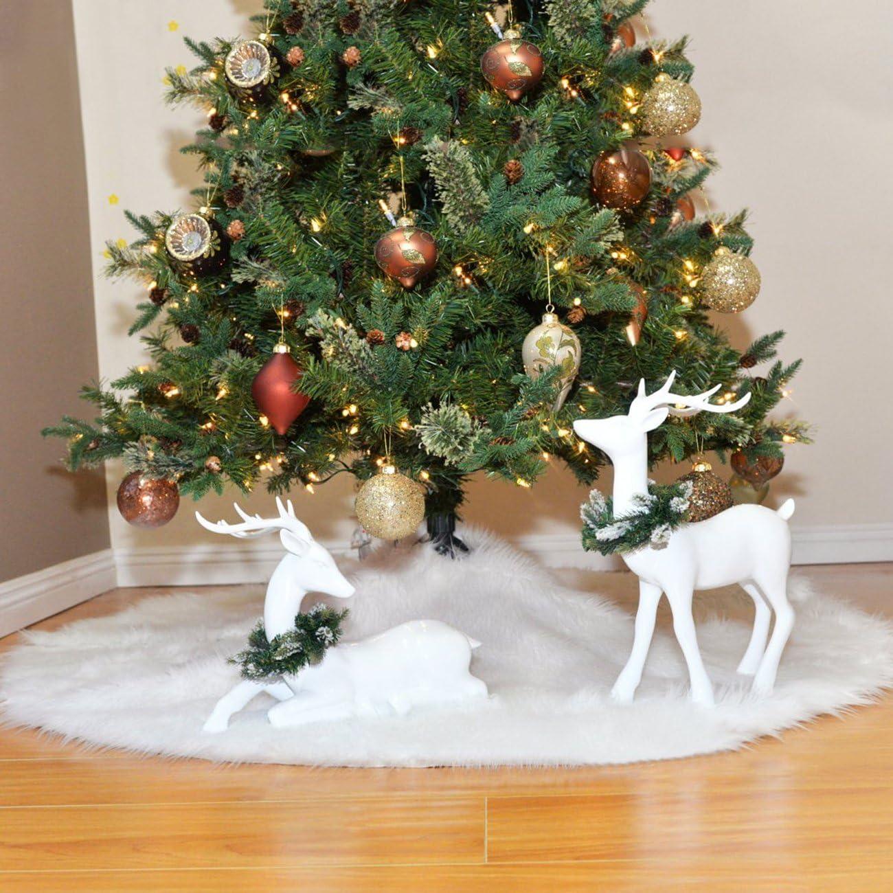 THEE Falda de /Árbol de Navidad de Decoraci/ón Felpa de Pap/á Noel