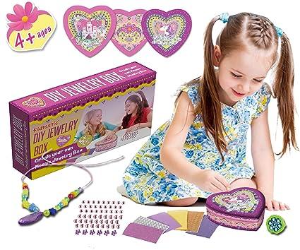 Amazon Com Kidtastic Diy Jewelry Box For Girls Girls Toys Unicorn