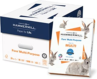 product image for Hammermill A4 Paper, Fore Multipurpose 20 lb Printer Paper - 10 Ream (5,000 Sheets) - 96 Bright, Made in the USA